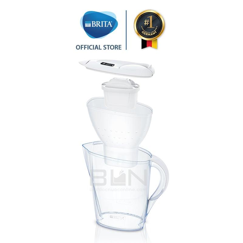 Bình lọc nước BRITA Marella Cool White 2.4L (có sẵn 1 lõi lọc Maxtra Plus) - Thương hiệu đến từ Đức