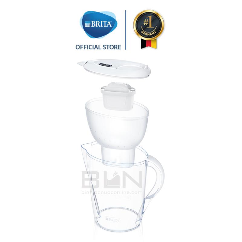 Bình lọc nước Brita Marella XL White 3.5L (có sẵn 1 lõi lọc Maxtra Plus) - Thương hiệu đến từ Đức