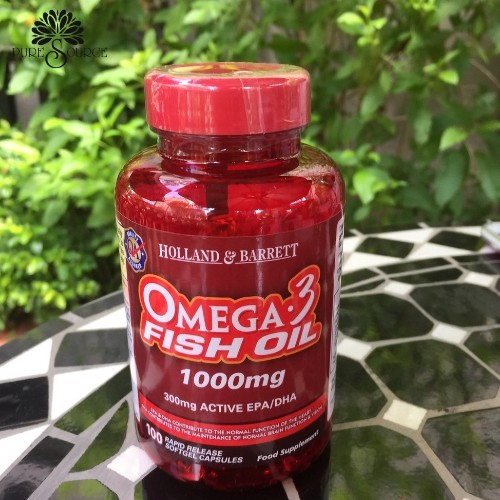 OMEGA FISH OIL 1000mg - 100 viên