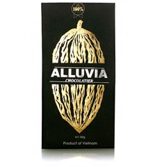 Chocolate Đen 100%<br>Dark chocolate Alluvia Sugar free 100%