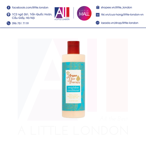 Dầu xả Superdrug Argan Hair Therapy Weightless Conditioner 250ml (Bill Anh)