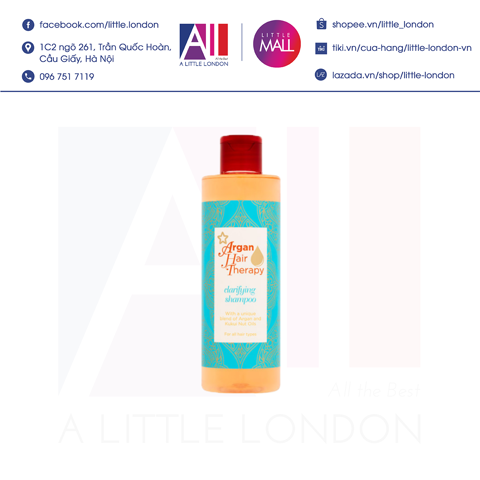 Dầu gội Superdrug Argan Hair Therapy Clarifying Shampoo 250ml (Bill Anh)
