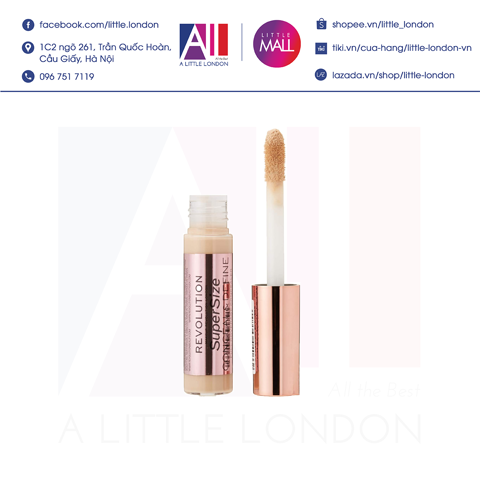 Kem che khuyết điểm Makeup Revolution Conceal And Define Concealer Supersize - C2 (Bill Anh)