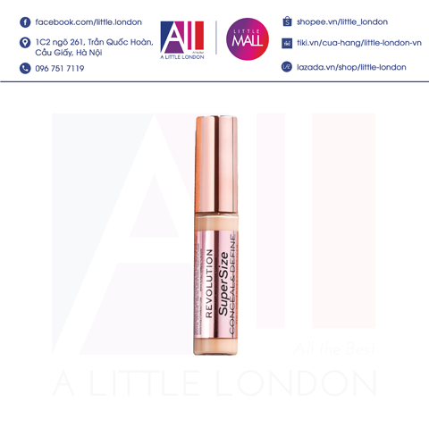 Kem che khuyết điểm Makeup Revolution Conceal And Define Concealer Supersize - C3 (Bill Anh)