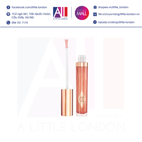 Son bóng Charlotte Tilbury Collagen Lip Bath - Peachy Plump (Bill Anh)
