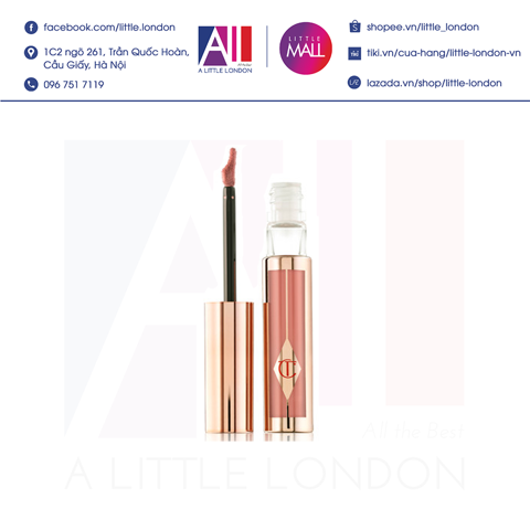 [Clearance- Dọn kho] Son kem Charlotte Tilbury Hollywood Lip Matte - Platinum Blonde (Bill Anh)