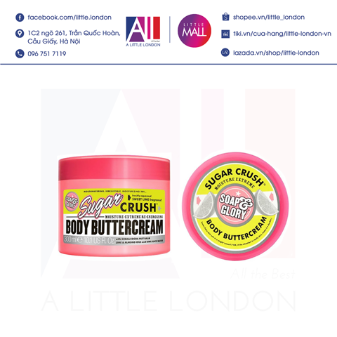 Dưỡng thể Soap & Glory Sugar Crush Body Buttercream 300ml (Bill Anh)