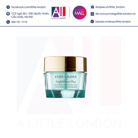 Kem dưỡng đêm Estee Lauder NightWear Plus Anti-Oxidant Night Detox Crème 15ml tách set (Bill Anh)