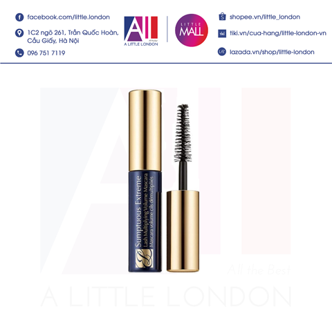 Chuốt mi Estee Lauder Sumptuous Bold Volume Mini Black Mascara 2.8ml - Tách set (Bill Anh)