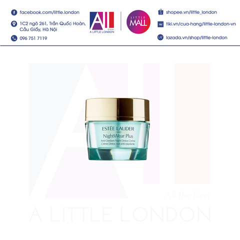 Kem dưỡng đêm Estee Lauder NightWear Plus Anti-Oxidant Night Detox Crème 5ml tách set (Bill Anh)