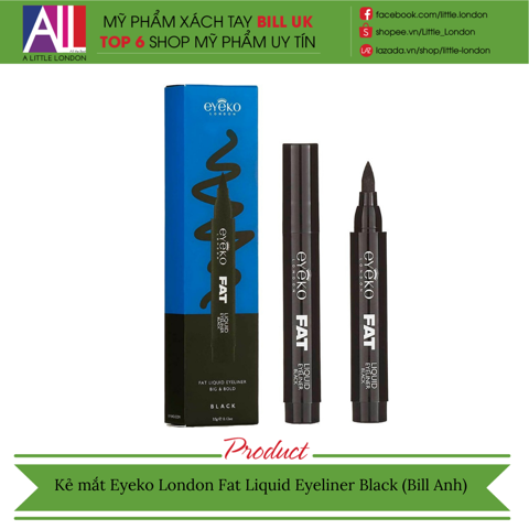Kẻ mắt Eyeko London Fat Liquid Eyeliner Black (Bill Anh)