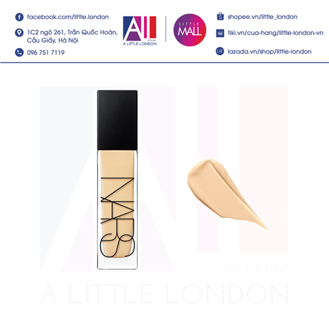 Kem nền Nars Natural Radiant Longwear Foundation 30ml - Light 3 Gobi (Bill Anh)