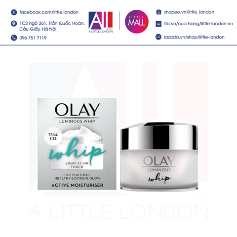 Kem dưỡng da Olay Luminous Whip Light As Air Touch 15ml (Bill Anh)