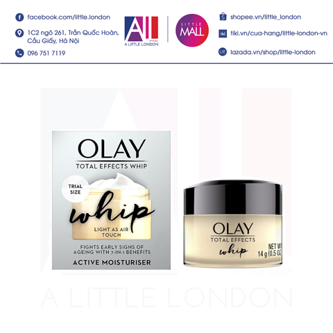 Kem dưỡng da Olay Total Effects Whip Light As Air Touch 15ml (Bill Anh)