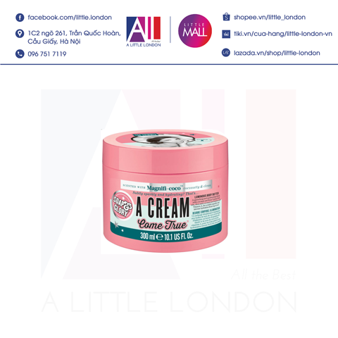 Dưỡng thể Soap & Glory A Cream Come True 300ml (Bill Anh)