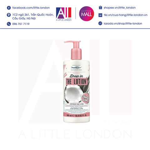 Dưỡng thể Soap & Glory Drop In The Lotion Lightweight Body Lotion 500ml (Bill Anh)