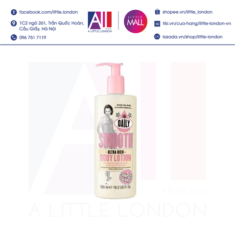 Dưỡng thể Soap & Glory Smooth Ultra Rich Body Lotion 500ml (Bill Anh)
