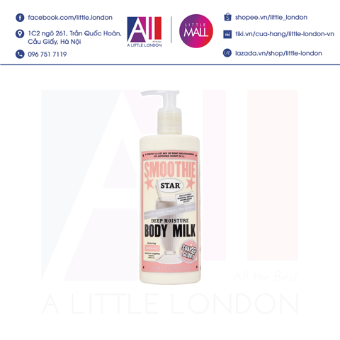 Dưỡng thể Soap & Glory Smoothie Star Deep Moisture Body Milk 500ml (Bill Anh)