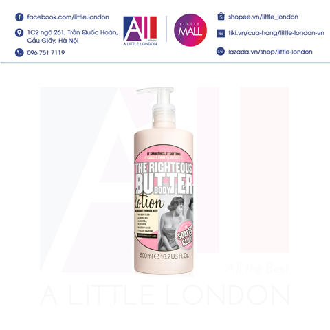Dưỡng thể Soap & Glory The Righteous Butter Body Lotion 500ml (Bill Anh)