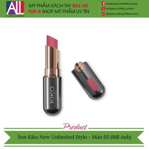 [Clearance- Dọn kho] Son Kiko New Unlimited Stylo - Màu 05 (Bill Anh)