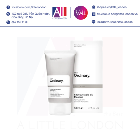 Mặt nạ The Ordinary Salicylic Acid 2% Masque 50ml (Bill Anh)