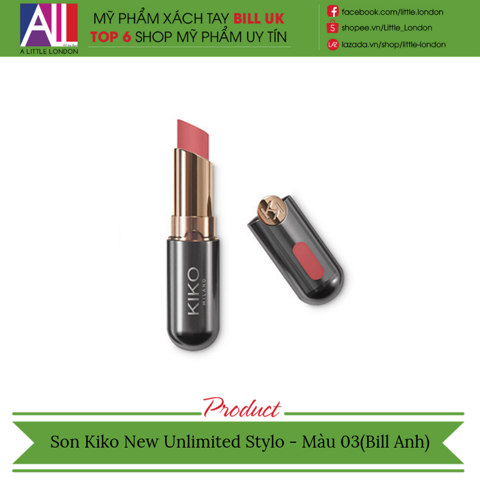 [Clearance- Dọn kho] Son Kiko New Unlimited Stylo - Màu 03 (Bill Anh)