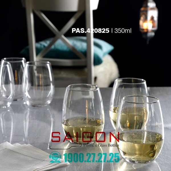ly Thủy Tinh Pasabahce Amber White Wine Glass 350ml