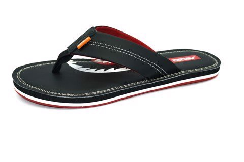 Dép Slipper Vento H0208 Black & Red