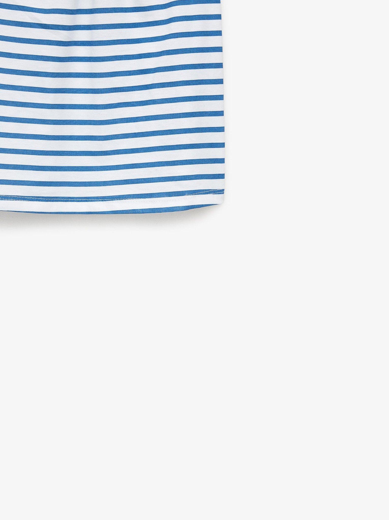 [5-14kg] Áo Thun 2 Dây Zara 109 [Girl] - Trắng/Sọc Xanh