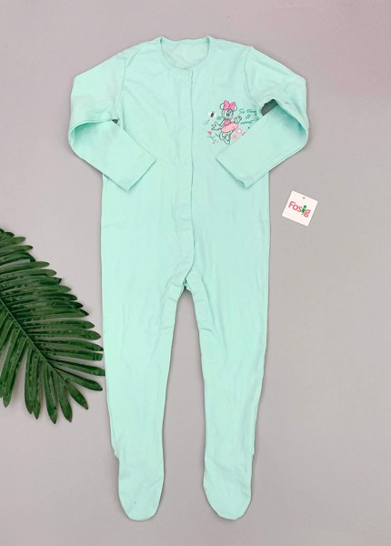 [14-15kg] Sleepsuit George [Girl] - Xanh Ngọc/Mickey