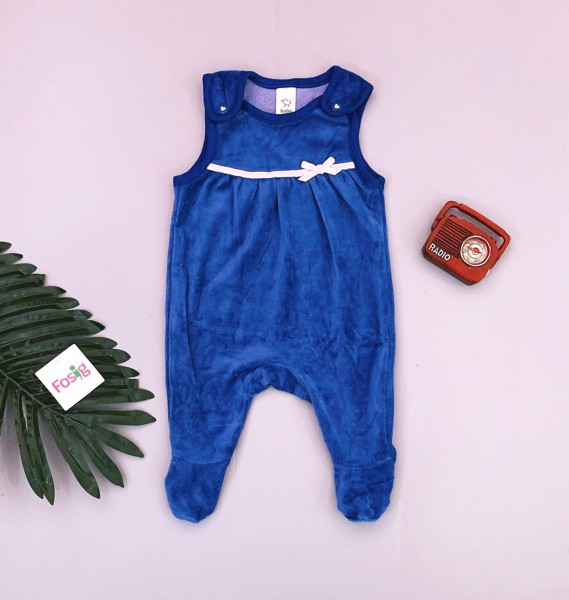 [3-7kg] Sleepsuit Baby Club [Girl] - Xanh Nơ