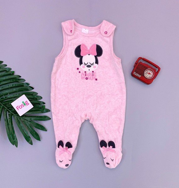[3-7kg] Sleepsuit Baby Club [Girl] - Hồng/Mickey