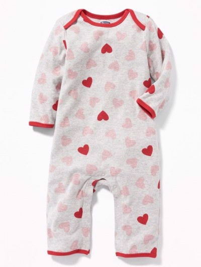 [4-5kg] Sleepsuit Old Navy [Girl] - Xám/Tim Đỏ