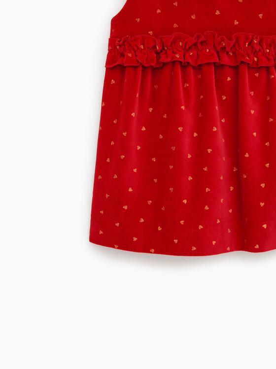 [14-28kg] Đầm Nhung Zara A8 [Girl] - Đỏ Nhung