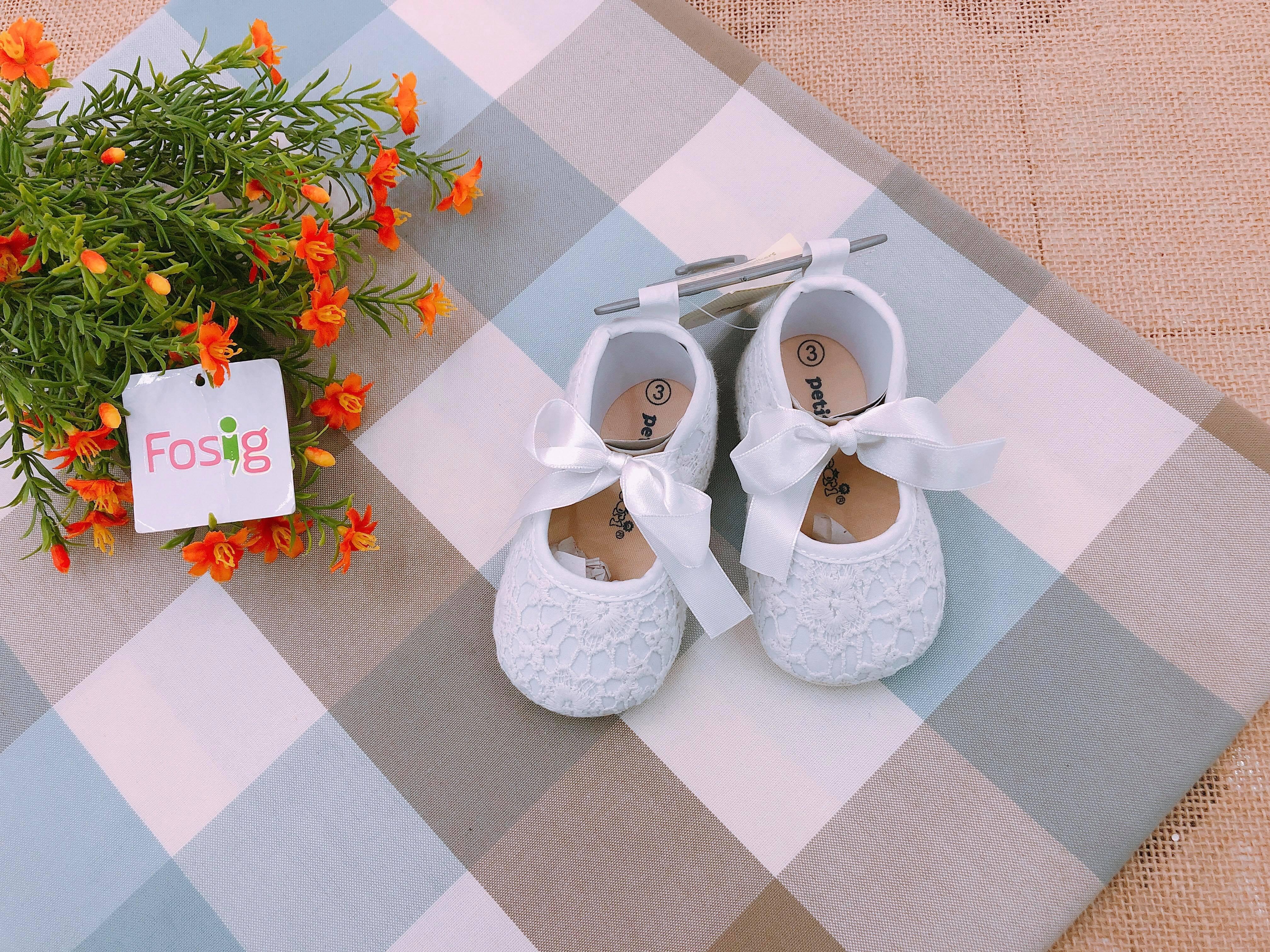 Giày Petit Cocor1 [Girl] - Trắng Ren/Nơ