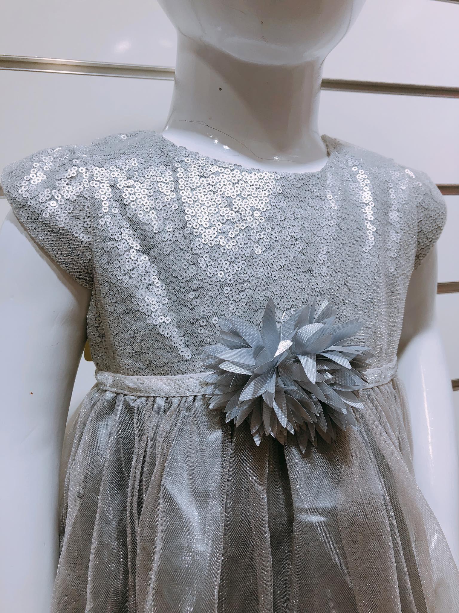 Đầm Công Chúa Baby Girl - Xám/Hoa