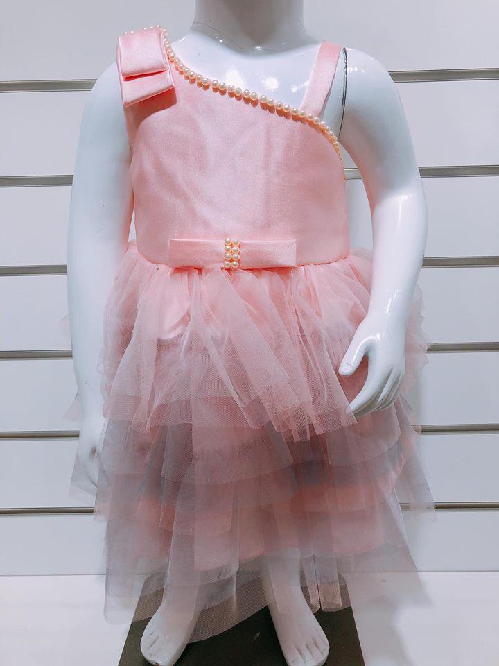 Đầm Công Chúa Baby Girl - Hồng/Trể Vai