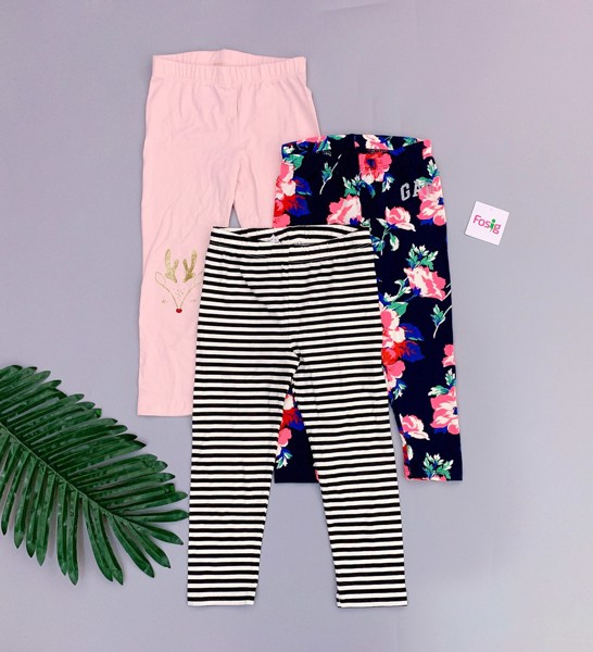 [6-7kg; 13-17kg] Set 3 Quần legging Place & Gap [Girl] - Random