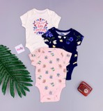 [5-12kg] Set 3 Bodysuit Tay Ngắn Old Navy - Girl