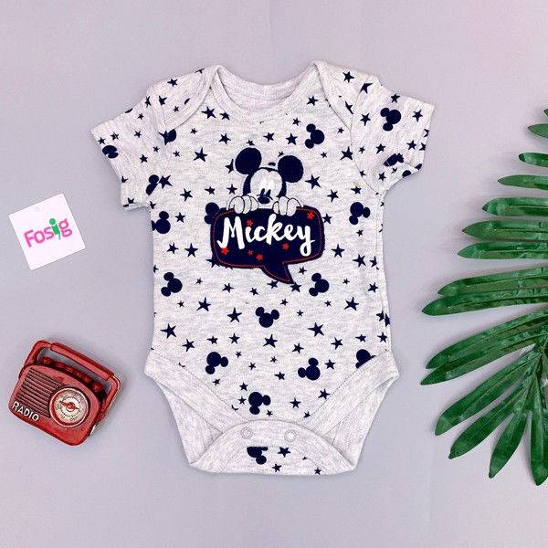 [ 3-5kg] Bodysuit George [Boy] - Xám Sao/MicKey