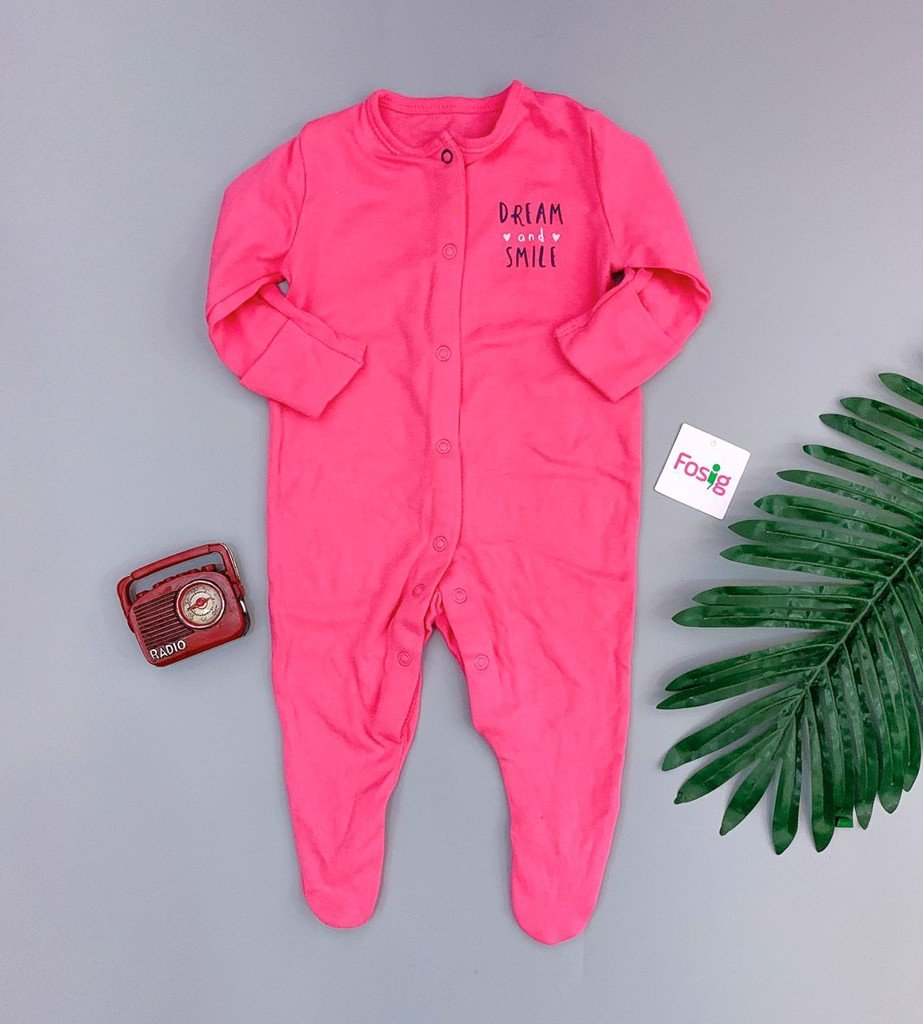 [5-6kg; 8-10kg] Sleepsuit Primark [Girl] - Hồng/Dream
