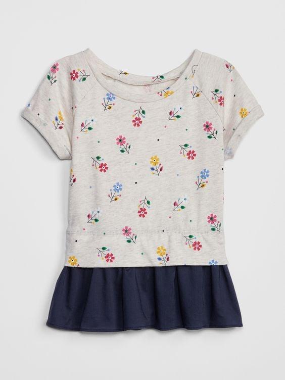 [12-15kg] Áo Váy Baby Gap 88 [Girl] - Xám/Hoa
