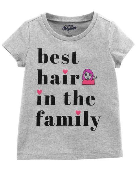 Áo Thun OshKosh [Girl] - Xám/Best Hair