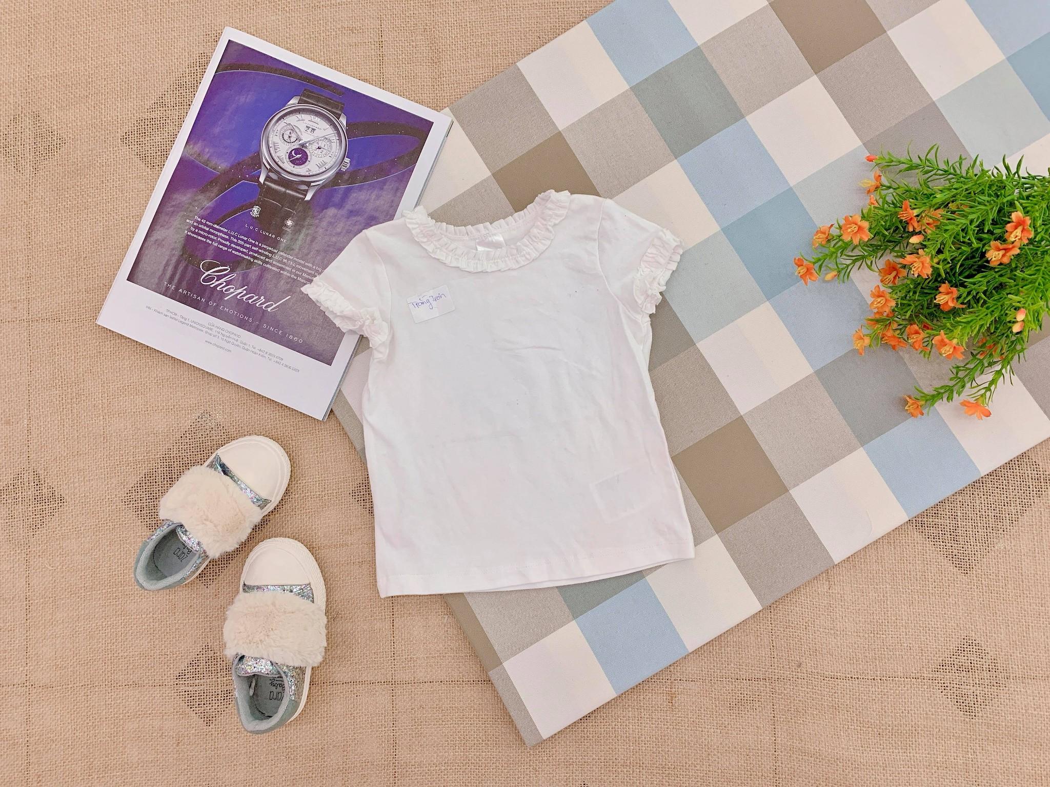 Áo Thun H&M [Girl] - Trắng Trơn