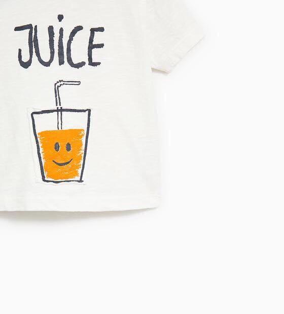 Áo Thun Zara [Boy] - Trắng/Juice