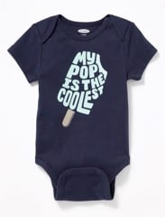 [5-12kg] Bodysuit Old Navy 05 [Boy] - Xanh Navy/My Pop Is The Coolest