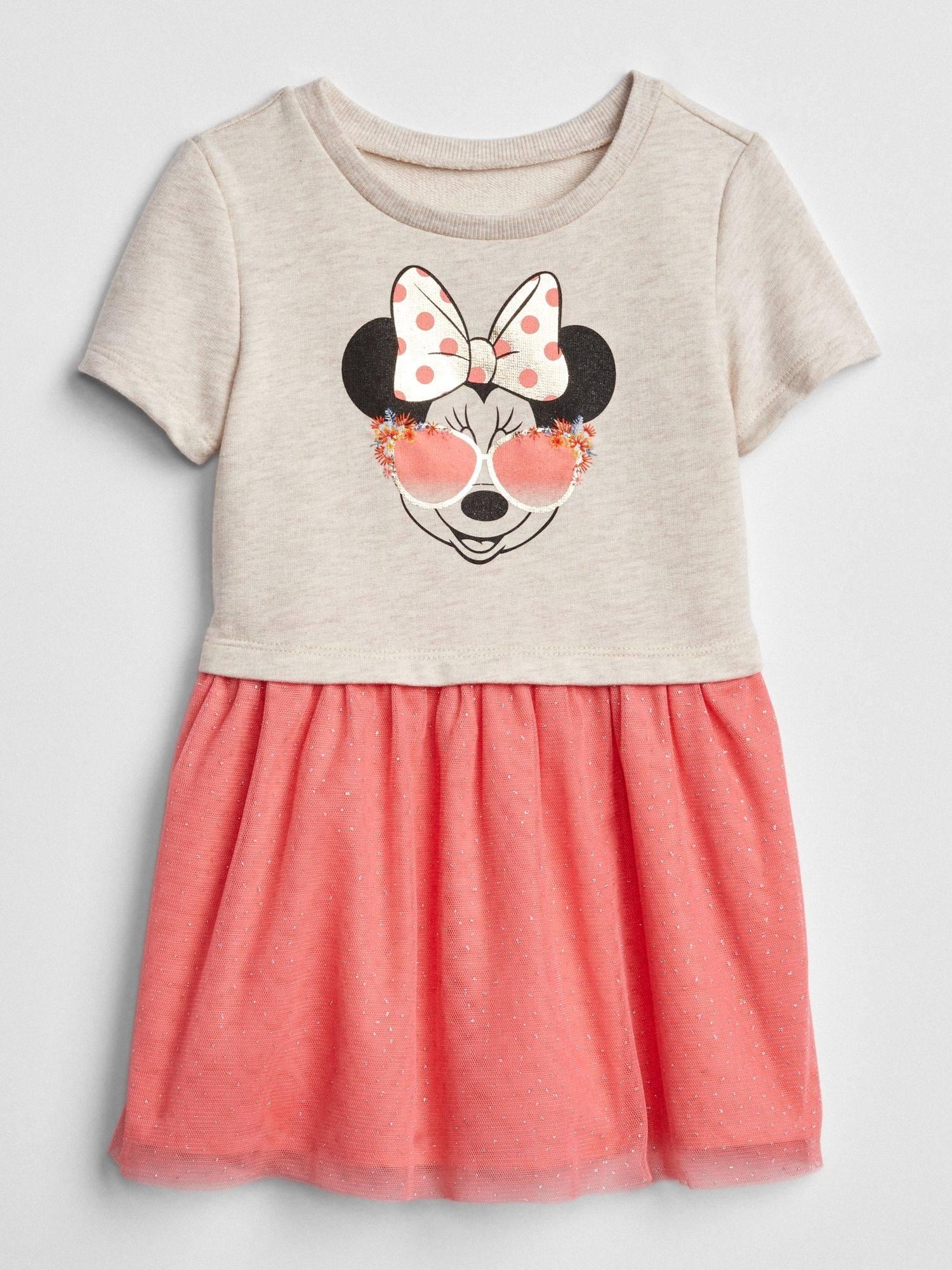Đầm BaBy Gap [Girl] - Xám Trắng/Mickey