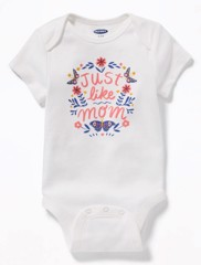 Bodysuit Old Navy 05 [Girl] - Trắng/Just Like Mom