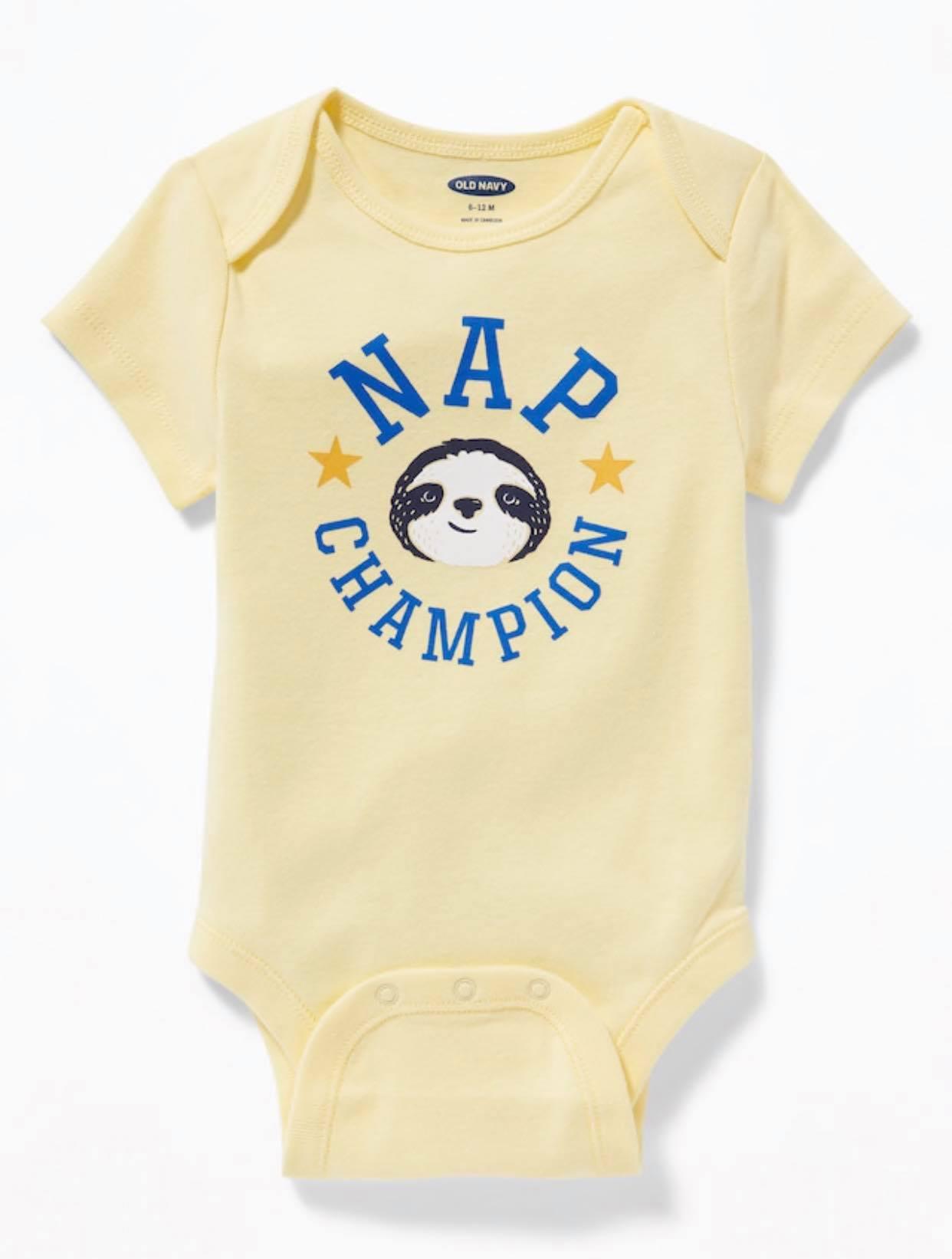 Bodysuit OldNavy 05 [Boy] - Vàng/Nap Champion