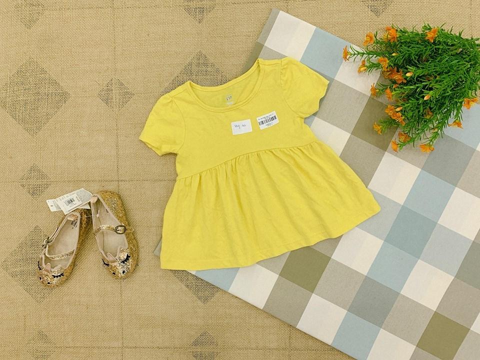 Áo Váy BaBy Gap [Girl] - Vàng Trơn
